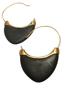Anticoa Matte Black Onyx 24K over .925 Sterling Silver Earrings