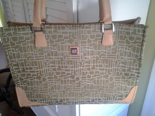 Diane von Furstenberg green/ tan Travel Bag