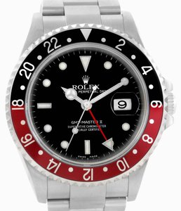 Rolex Rolex GMT Master II Black Red Coke Bezel Steel Mens Watch 16710