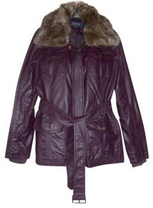 Kenneth Cole Faux Leather Concord Leather Jacket