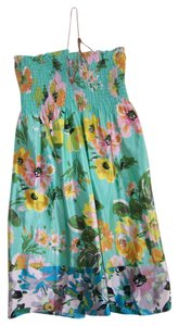Calypso St. Barth short dress Multi St. Silk Mini Floral Pattern Tropical on Tradesy