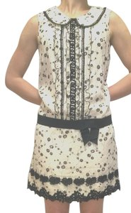 Anna Sui short dress Cream/Black on Tradesy