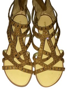 Express Brown w/ Tan Rhinestones Sandals