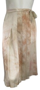 Prada Silk Tie Dye Spring Summer Skirt Blush