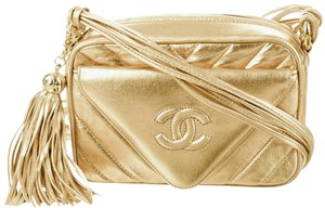 Chanel Camera Flap Classic Chevron Cross Body Bag