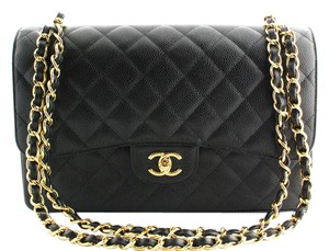 Chanel Jumbo Caviar Classicflap Shoulder Bag