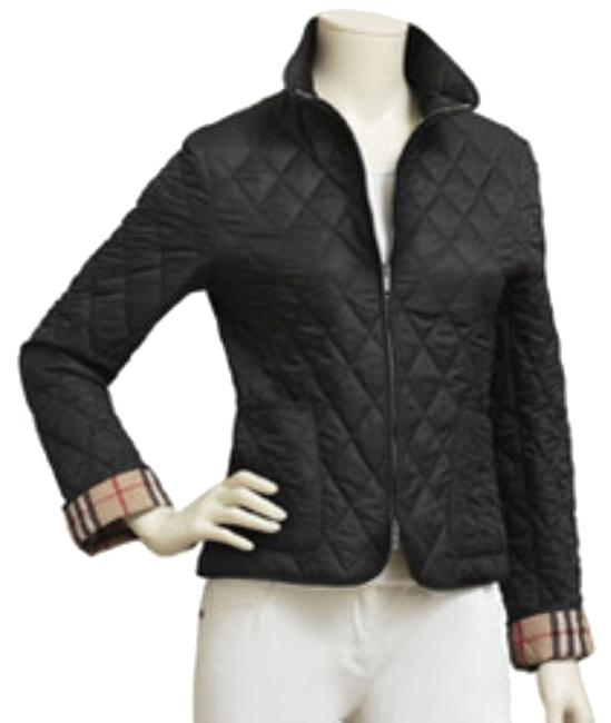 Item - Black Quilted Polyester Zip Jacket Size 2 (XS)