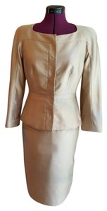 L.K. Bennett Silk Formal Evening Champagne Jacket