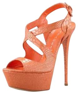 Casadei Orange Platforms