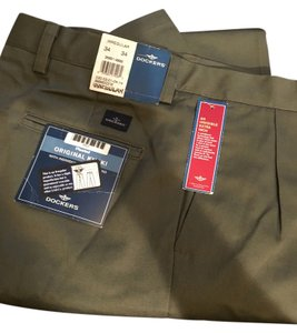Dockers Khaki/Chino Pants Dark Green