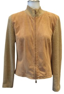 Worth Khaki tan Leather Jacket