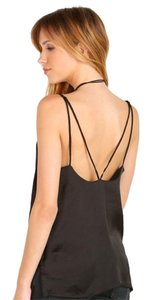 Free People Scallop Deep V Ob415623 Top BLACK