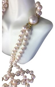 Vintage designer Richelieu signed Long Pearl Necklace