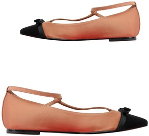Tory Burch Ballet Bow Pointed Toe Rose Pink Black Flats