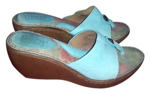 Børn sea green Wedges