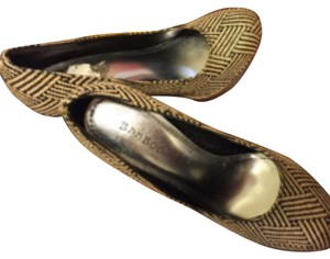 Bamboo Black and tan Platforms