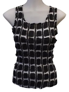 Alberto Makali Top Black white printed
