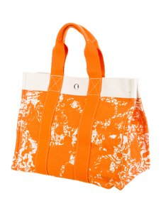 Hermès Tote in Orange/ white