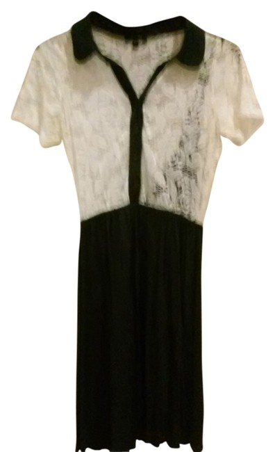 Item - Navy Blue Lace Above Knee Short Casual Dress Size 8 (M)