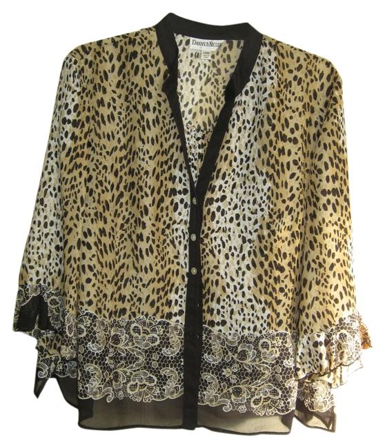 Item - Leopard Print 3 Pc New with Tag On Pant Suit Size 24 (Plus 2x)