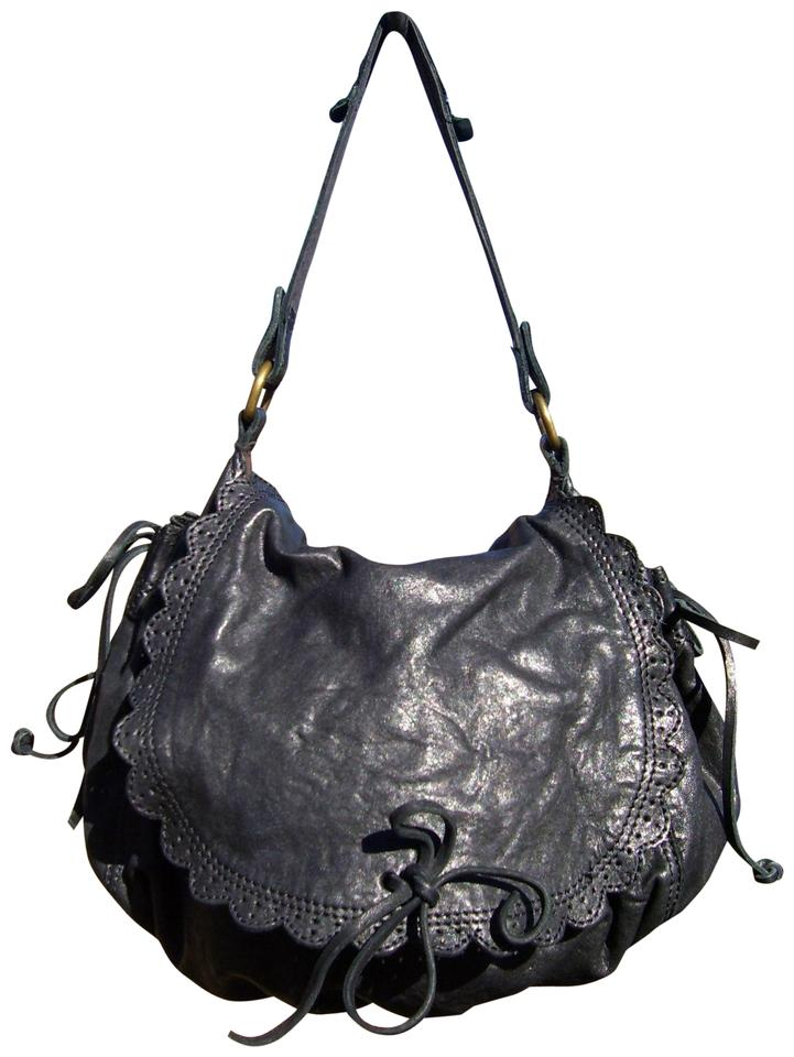 Lucky Brand Scalloped Flap Black Leather Hobo Bag - Tradesy 0ba51b7f95
