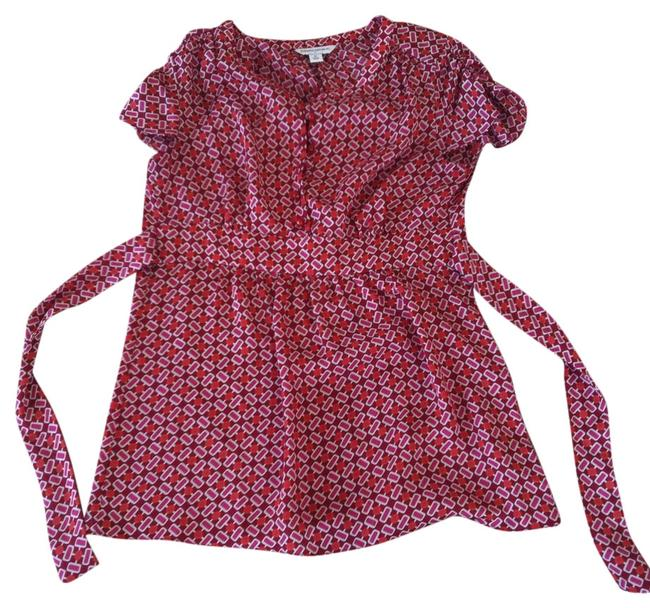 Banana Republic Top Red, Pink and White