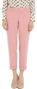 J.Crew 100% Wool Herringbone Capri/Cropped Pants Pink