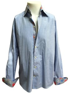 Eton Button Down Shirt blue