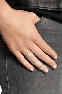 Eddie Borgo Eddie Borgo Zig Zag Stacking Ring Set