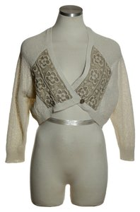 Anthropologie Bolero Lace Inset Crop Cardigan
