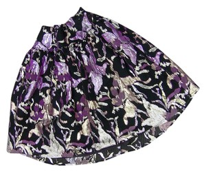 Other Skirt purple, black, gold, silver