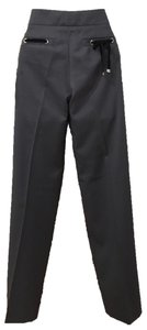 Gucci Velvet Gold Hardware Straight Pants Grey