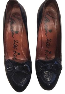 Lanvin Navy patent Pumps