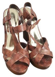 INC International Concepts Brown/Gold Sandals