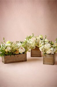 BHLDN Wood Box Wooden Planters By Centerpiece