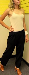 St. John New Collection Santana Knit Couture Designer Trouser Pants Black