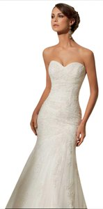Mori Lee Ivory 5309 Feminine Wedding Dress Size 14 (L)