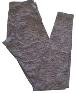 Lululemon Black, gray and white stripes Leggings