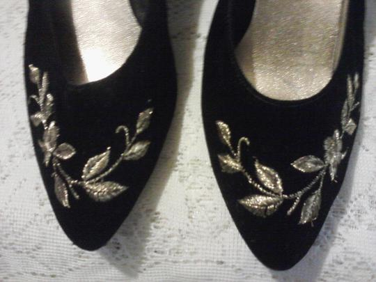 Collections from Watsons Black with gold colored designs Pumps