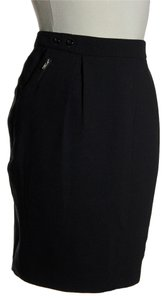 By Malene Birger Pleated Front Mini Skirt Black