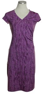 Athleta short dress Purple Stretch Knit Short Sleeve on Tradesy