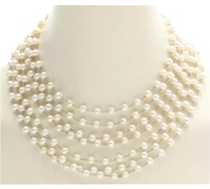 Safia Day Sofia Day 7 Strand Pearl & Sterling Silver Necklace featured in Vogue + Jewelry Designer to Celebrities