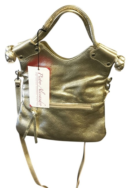 Item - Champagne Leather Cross Body Bag