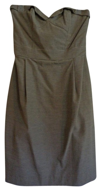 Preload https://item1.tradesy.com/images/french-connection-dress-black-and-white-pin-stripe-1305145-0-0.jpg?width=400&height=650