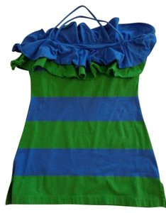 Ralph Lauren Top Blue and Green Rugby Stripe