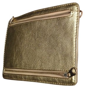 Sondra Roberts Logo Metallic Gold Clutch