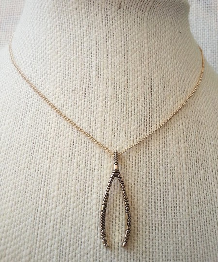 Other Wishbone Necklace