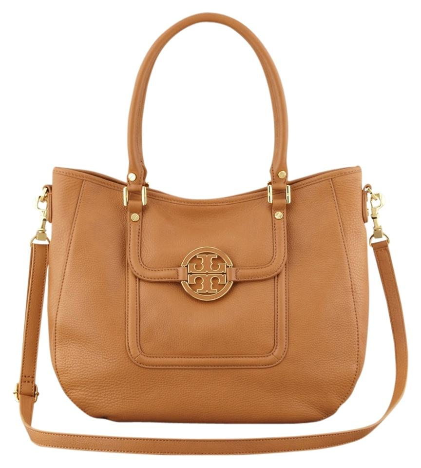 9ad459ed82 Tory Burch Amanda  get Off Use Code Gift25  Classic Satchel W Gift Receipt Royal  Tan Pebbled Leather Hobo Bag
