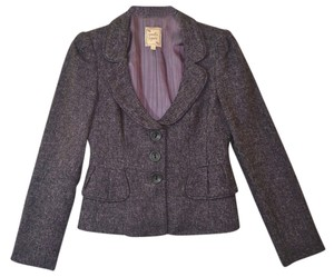 Nanette Lepore Nanatte Tweed Jacket Purple Blazer
