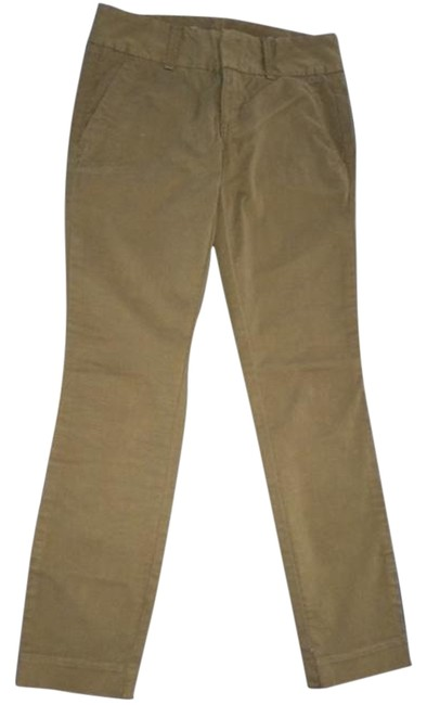 J.Crew Andie Chino New Capri/Cropped Pants Olive moss